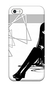 Andrew Cardin's Shop textshoes jackets thigh highs grayscale Anime Pop Culture Hard Plastic iPhone 5/5s cases 1103407K884917522