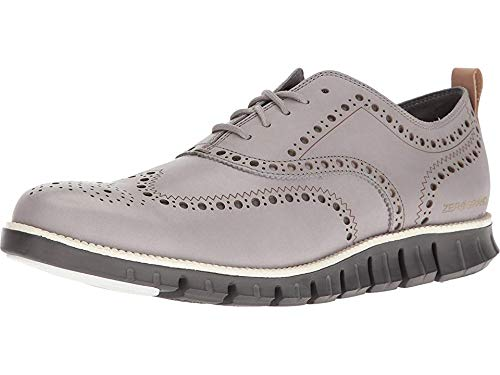 - Cole Haan Men's Zerogrand Wing Ox Leather Silver Sconce Leather/Magnet 12 W US