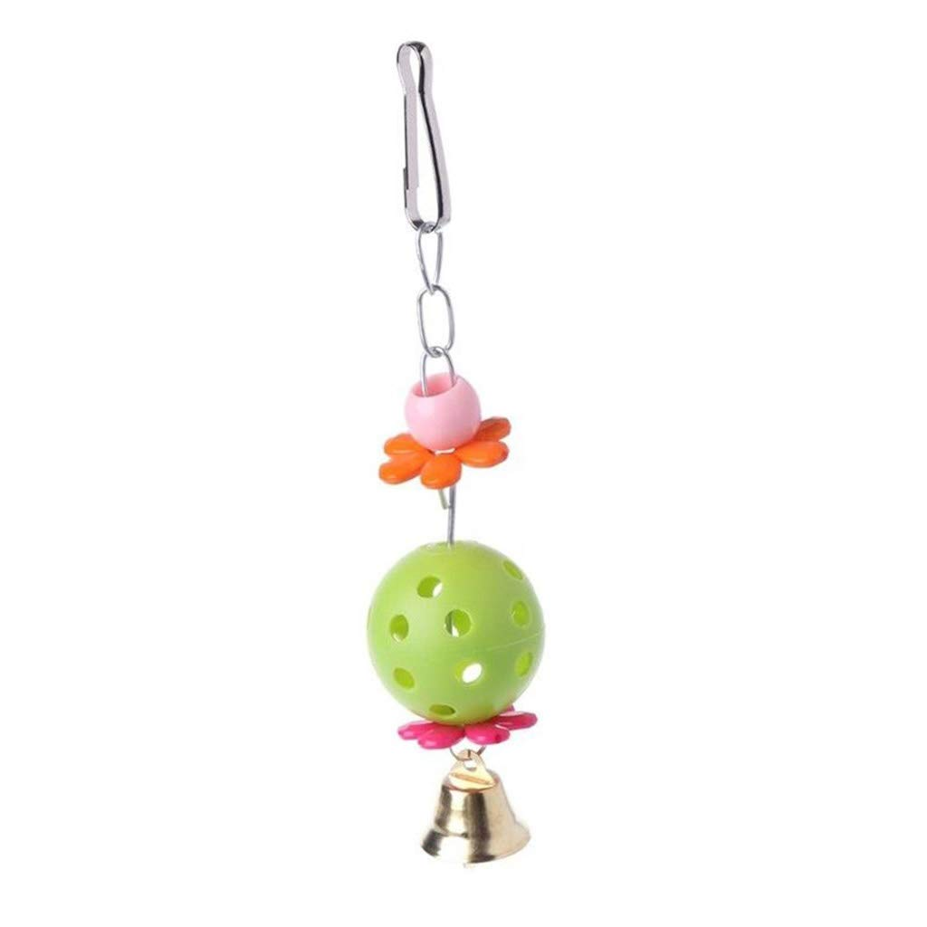 Bird toy Bird Nest Toys with Bell Hammock Swing Hanging Chew Toys Parrot Parakeet Budgie Cockatiel (Color : Green, Size : 184cm) by Bird toy