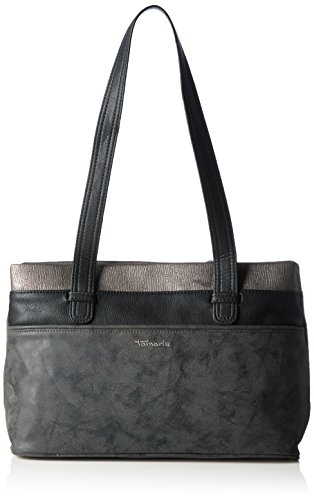 Tamaris Damen Khema Shoulder Bag Schultertaschen, Schwarz (Black Comb 098), 32x22x10 cm