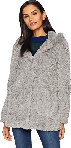 Kenneth Cole New York Women's Leisure Coat Pale Grey Large ()