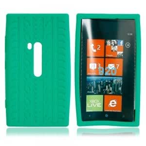 Silicone Protective Case with Tire Pattern for Nokia 920 Green