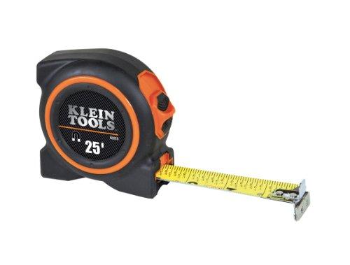 Klein Tools 93225 Double Hook Magnetic Tape Measure, 25-Foot