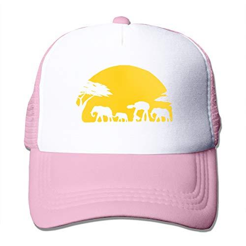 Elephants and Imperial Walker Across African Safari Adult Mesh Cap Adjustable Baseball Cap ()