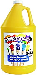 product image for Colorations GWSTYE Washable Tempera Paint, Gallon, Yellow, Non Toxic, Vibrant, Bold, Kids Paint, Craft, Hobby, Fun, Art Supplies, 1 Gallon