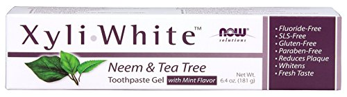 Now Foods Xyliwhite Neem & Tea Tree Toothpaste Gel, 6.4 Ounce - Food Safety Now