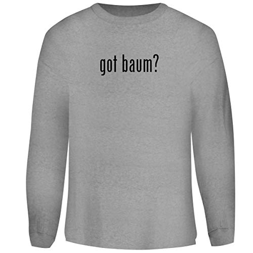 (One Legging it Around got Baum? - Men's Funny Soft Adult Crewneck Sweatshirt, Heather, Medium)