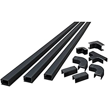 small latching cable raceway kit black home audio theater. Black Bedroom Furniture Sets. Home Design Ideas