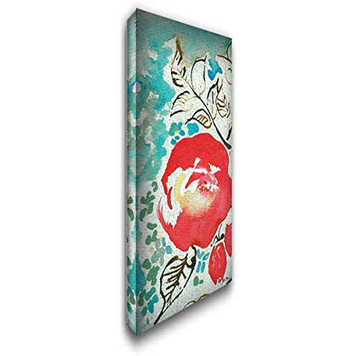 Sussex Garden III 24x48 Extra Large Gallery Wrapped Stretched Canvas Art by Minasian, Julia