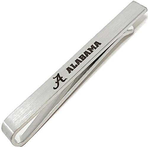 Laser Engraved Gifts Alabama Crimson Tide Bama Tie Clip Silver Tie Bar Gift Set