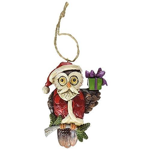 jim shore heartwood creek christmas owl stone resin hanging ornament 38 - Owl Christmas