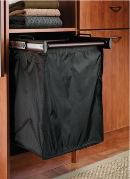 24 Inch Sliding Double Laundry Hamper 24 Inch Matte Nickel by Hafele Hardware