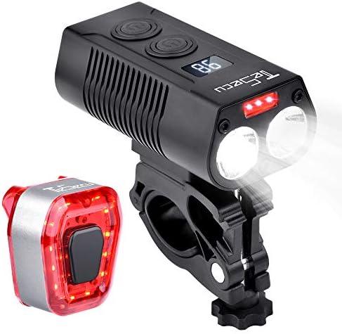 800Lumen Headlight Rechargeable LED MTB Bicycle Light Waterproof Bike Front USB