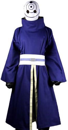 Ninja Tobi Obito Uchiha Madara Uchiha Cosplay Costume Full Set+Gloves No Mask
