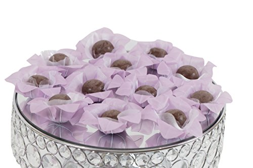 Wedding Chocolates Wrapper - Luxury Wedding - Handmade Fabric Truffle Cups, Truffle Liners, Truffle Wrappers - Pack of 20 - Truffilio (Lilac)