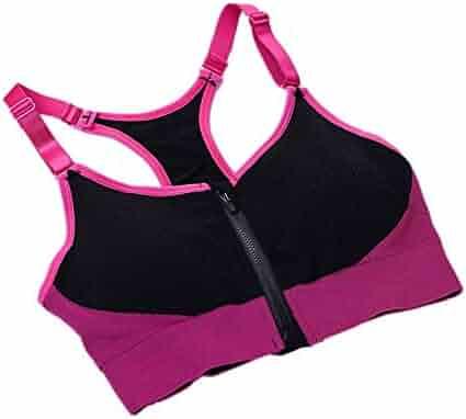 b0b79c05aedb Yandam I-Shaped Vest Women's Style Sports Bra Seamless Underwear  Camisole(Green L)