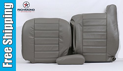 2004 Hummer H2 SUT Driver Side Complete Replacement Leather Seat Cover, Gray