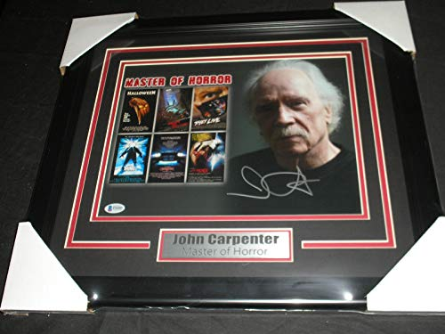 JOHN CARPENTER Signed 10x13 Photo FRAMED Autograph Halloween Director BECKETT BAS COA]()