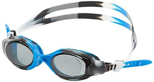 Speedo Hydrosity Swim Goggles, Black/Blue, One Size - Kids Vanquisher Goggle