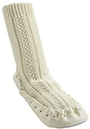 Nowali Boys\' Cable Knit Moccasin - Ivory - 2 Years