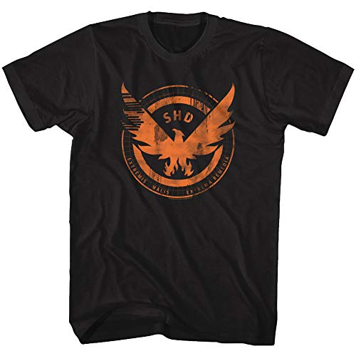 The Division Action Role-Playing Video Game Agent Shield Adult T-Shirt Tee Black ()
