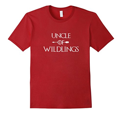 Mens Funny Saying Uncle of Wildlings T-Shirt Fun Shirt for Uncles Medium Cranberry - Wildlings Costume