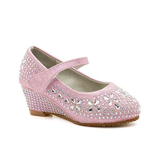 London Footwear ,  Mädchen Mary Jane Halbschuhe Rose