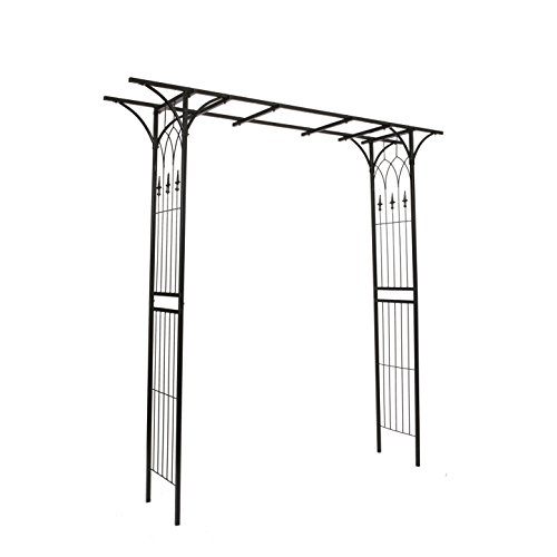 1.Go Steel Garden Arch, 6'9 High x 4'11 Wide, Garden Arbor for Various Climbing Plant, Outdoor Garden Lawn Backyard - Garden Arch