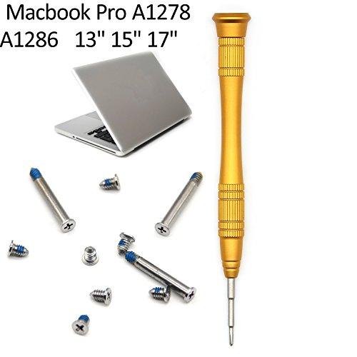 EDurable-Apple-Macbook-Pro-A1278-A1286-13-15-17-bottom-Case-Screw-Set-of-10pcs-Repair-Replacement-Screws-15-Phillips-Head-Screwdriver