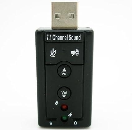 Demarkt Tarjeta de Sonido 7.1 Adaptador Externa Audio por USB 2.0 CD Drivers DJ Pen 2186