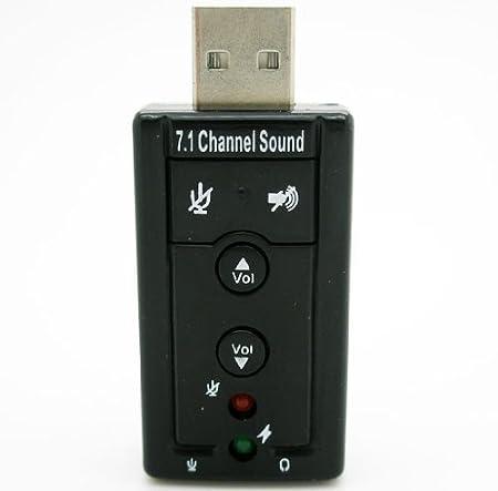 AGPTek® 7.1 adaptador de tarjeta de audio de canal de sonido ...