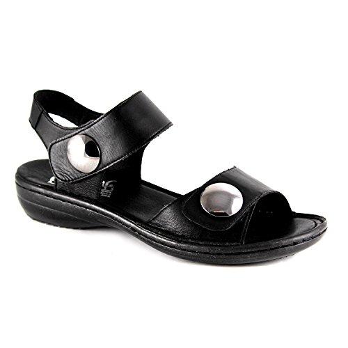 Rieker - Sandalias de vestir para mujer Negro - negro