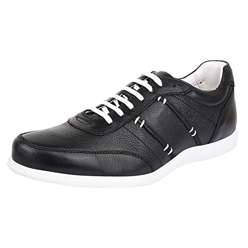 LIBERTYZENO Men's Walking Sneakers Genuine Leather Breathable Cushioned Fashion Casual Lace Up Shoes