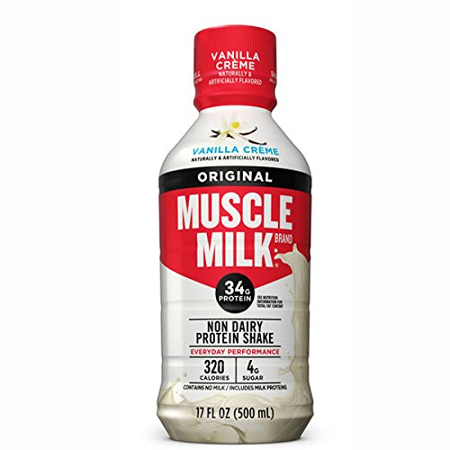 CytoSport Muscle Milk Ready-to-Drink Shake, Vanilla Creme, 17 Ounce Bottle (Pack of 12)
