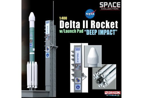 """Dragon Models 1/400 Delta II Rocket With Launch Pad """"Deep Impact"""" from Dragon Models USA"""