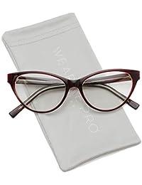 Clear Lens Cat Eye Glasses for Women