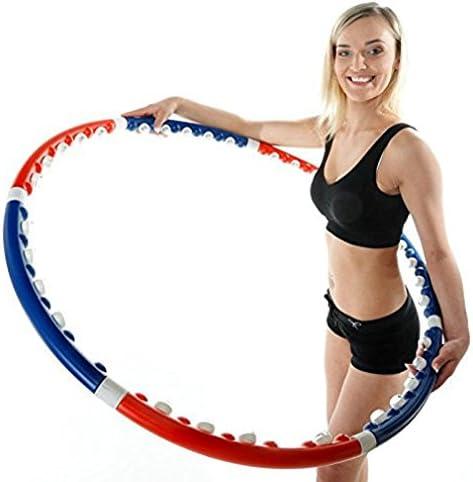 7 Teile Hula Hoop Reifen Fitness Schaumstoff 0,8KG Bauchtrainer Fitnesstraining