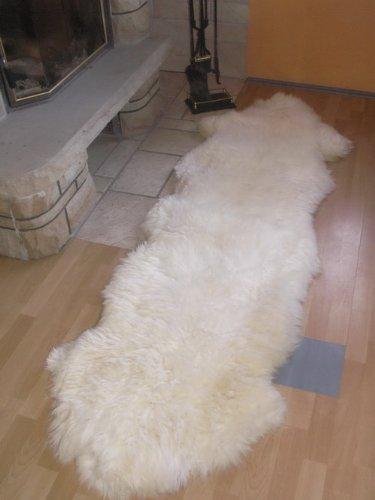 SCHAFFELL - LÄUFER FELL TEPPICH WEISS ca.200x70cm B004A5H0PY Teppiche Teppiche Teppiche bfe543