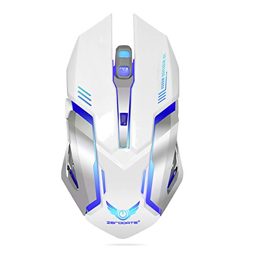 (2.4G Wireless Gaming Mouse, Silent Click Breathing Light, USB Rechargeable Wireless Mouse with 3 Levels of Adjustable Dpi for Laptop, Pc, Tablet, Computer, and Mac)