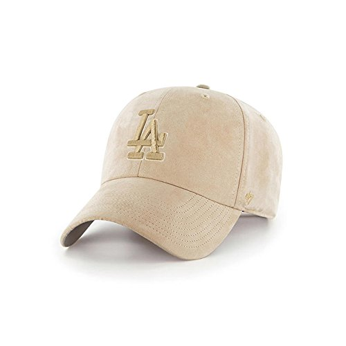 '47 Brand Los Angeles Dodgers Ultrabasic Suede Tonal Clean up Slouch Fit Hat (Khaki) by '47