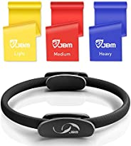JBM 13 Inch Pilate Circle, Exercise Yoga Pilates Magic Circle with Dual Grip Handles for Fitness Training