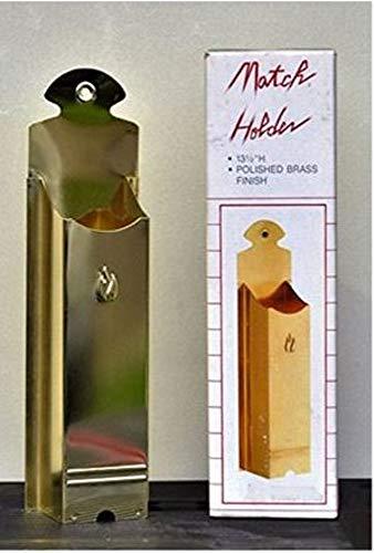 (Hearth Pro Polished Brass Fireplace Match Holder 01300)