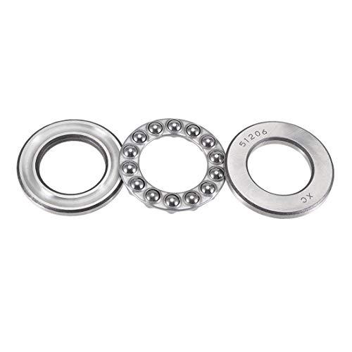 uxcell 51204 Thrust Ball Bearings 20mm x 40mm x 14mm Chrome Steel Single Direction 6pcs