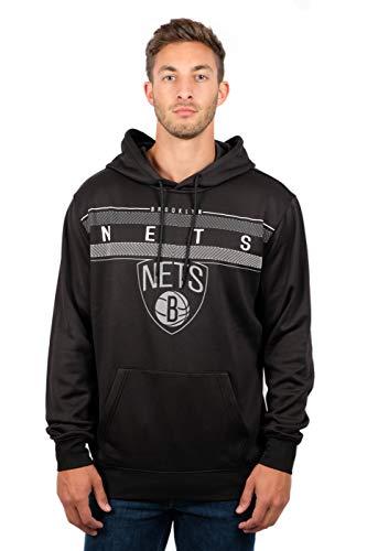 n's Fleece Hoodie Pullover Sweatshirt Poly Midtown, Small, Black ()