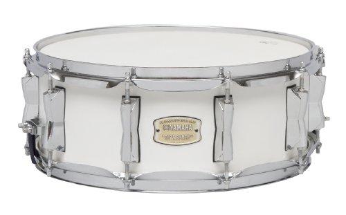 Triple Bass Drum - Yamaha Stage Custom Birch 14x5.5 Snare Drum, Pure White