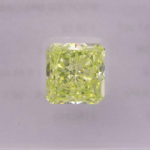 1.28Cts Fancy Yellow Green Loose Diamond Natural Color Radiant Cut IGI Untreated
