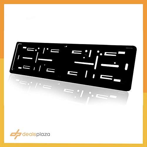 Euro Plate Frame - Dealsplaza License Plate Holder - German License Plate Holder Plastic Show n Go Mount Black 21