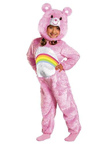 [Cheer Bear Deluxe Plush Costume - Toddler Medium] (Deluxe Cheer Bear Costumes)