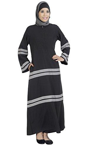 East Vestido Negro Essence Para Mujer Rayas Yvraqfxvw0