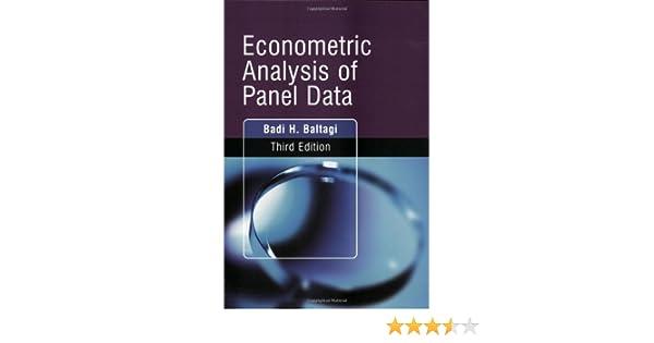 Baltagi Econometric Analysis Of Panel Data Pdf